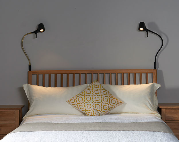 High Definition Wall Reading Lights - Over Wooden Bed