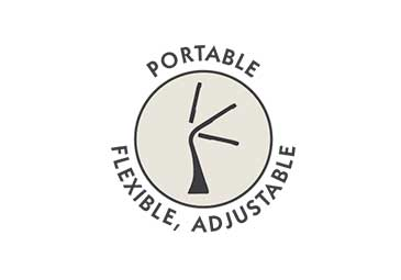 Portable, Flexible, Adjustable