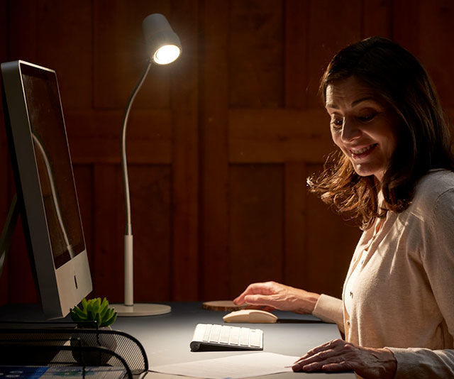 Alex Table Reading Light - Office Space With Lady